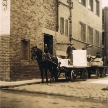 Cart delivery to H.B. Selby & Co Swanston Street office
